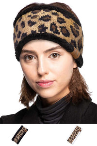 C.C. Leopard knitted head wrap