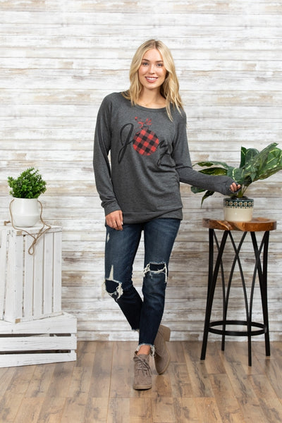 Charcoal Joy Sweatshirt