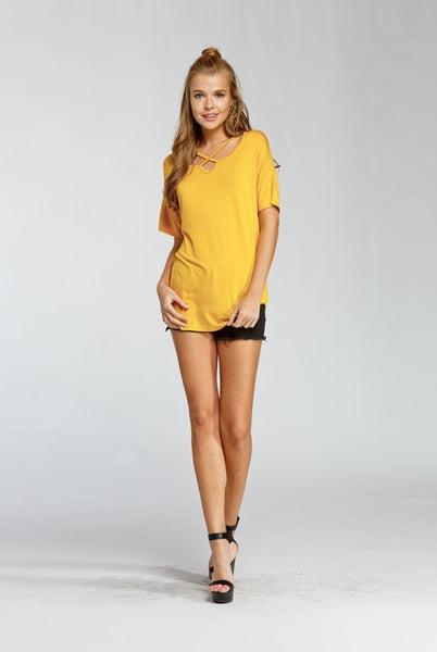Yellow cross detail top