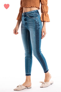 Kancan jeans with side stripe
