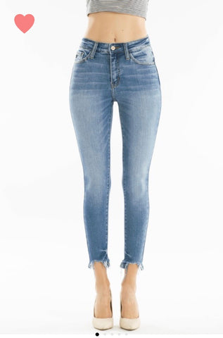 Kancan pocket distressed jeans