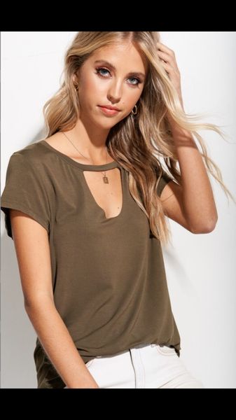Choker neck top