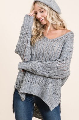 High low sweater