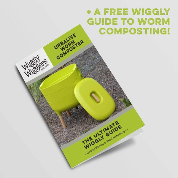 Urbalive Worm Composter Wormery From Wiggly Wigglers - 20 Litre Stone | Unit + Starter Pack