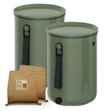 Organko 2 Bokashi Compost Kitchen Waste Value Pack  -