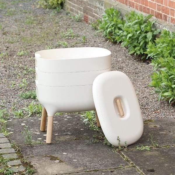 Urbalive Worm Composter From Wiggly Wigglers - 20 Litre Cream | Unit Only  -  Wormeries