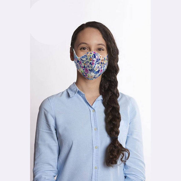 Premium Washable Face Masks Pack Of Three - Blue Tits