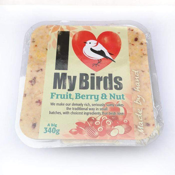 Fruit, Berries & Nuts - I Love My Birds Suet Cake  -