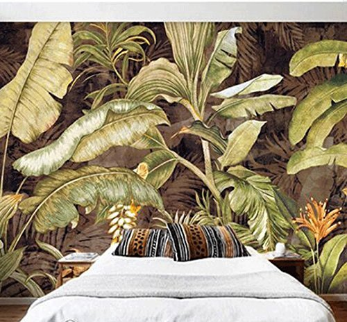 Tropical Leaves Bananier Heaven Retro Wallpaper