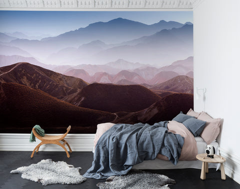 Jass London Colorful Mountains Mural Wallpaper