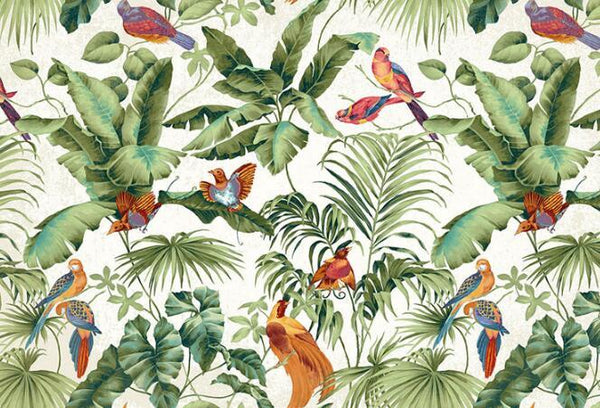 Paradise Garden Tropical-Jungle Mural Wallpaper