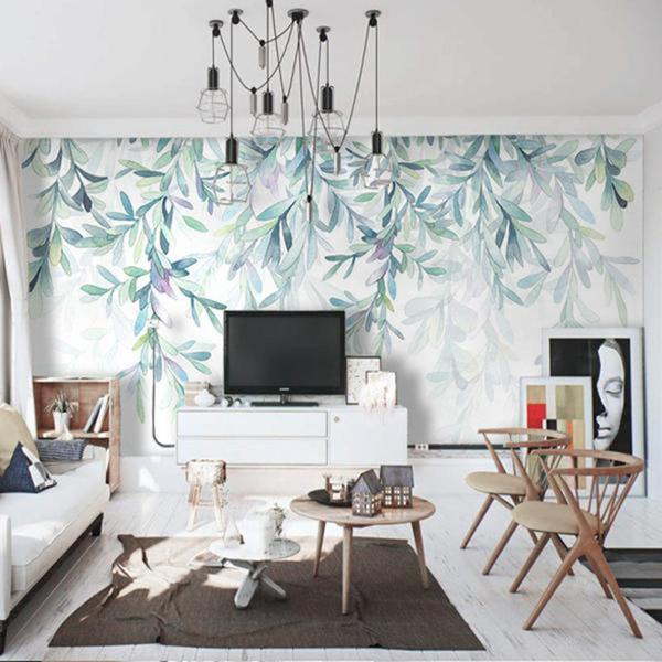 Under The Tree Silence Wallpaper Leaves Wall Mural