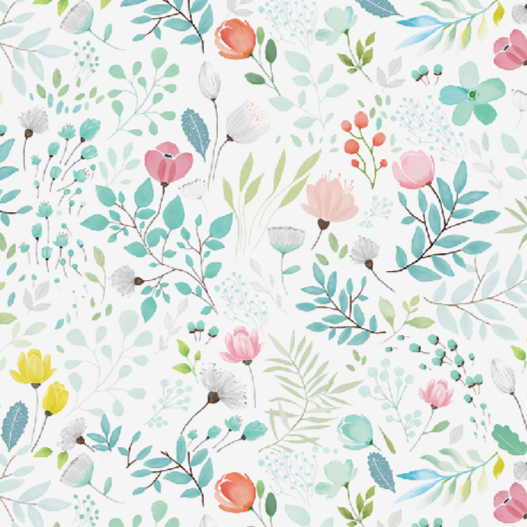 Botanical Floral Variance - Wallpaper Sample