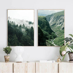 Scandinavian Forest Scenery Canvas Print