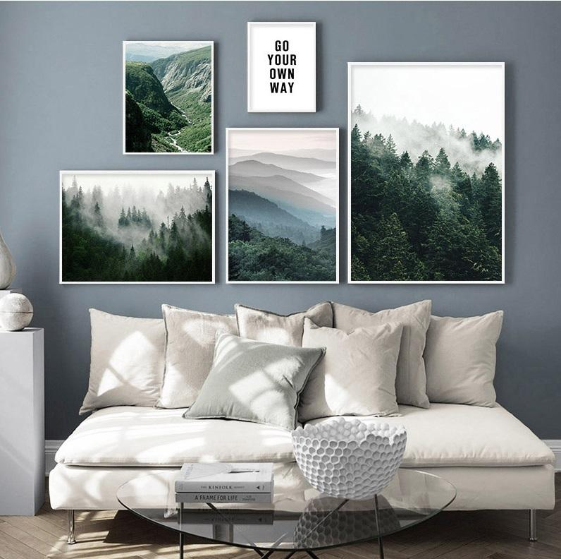 Scandinavian Scenery Motivational Canvas Print