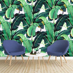 Banana Leaves Mural Wallpaper (SqM)