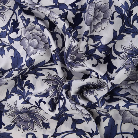 Blue Porcelain Mulberry Silk Pillowcase