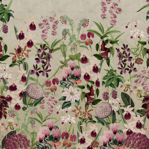 Alice's Pink Botanicals Mural - Wallpaper Sample