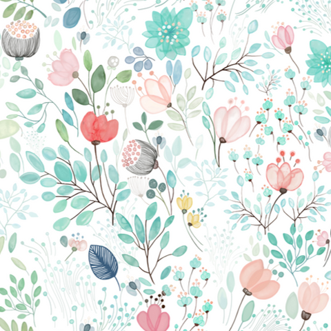 Botanical Tale Floral - Wallpaper Sample