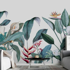 White Calas Pastel Mural Wallpaper