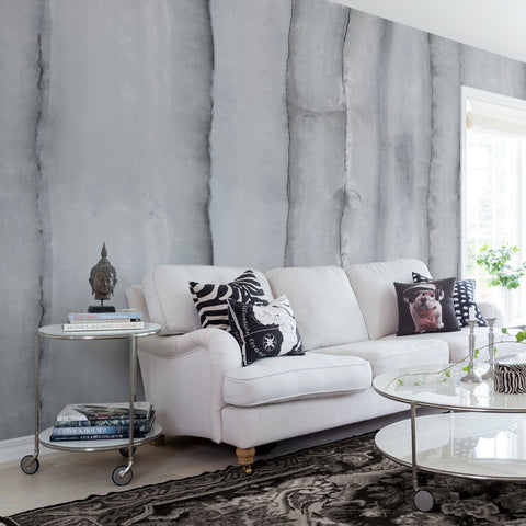 Gray Agate Slice Mural Wallpaper (SqM)