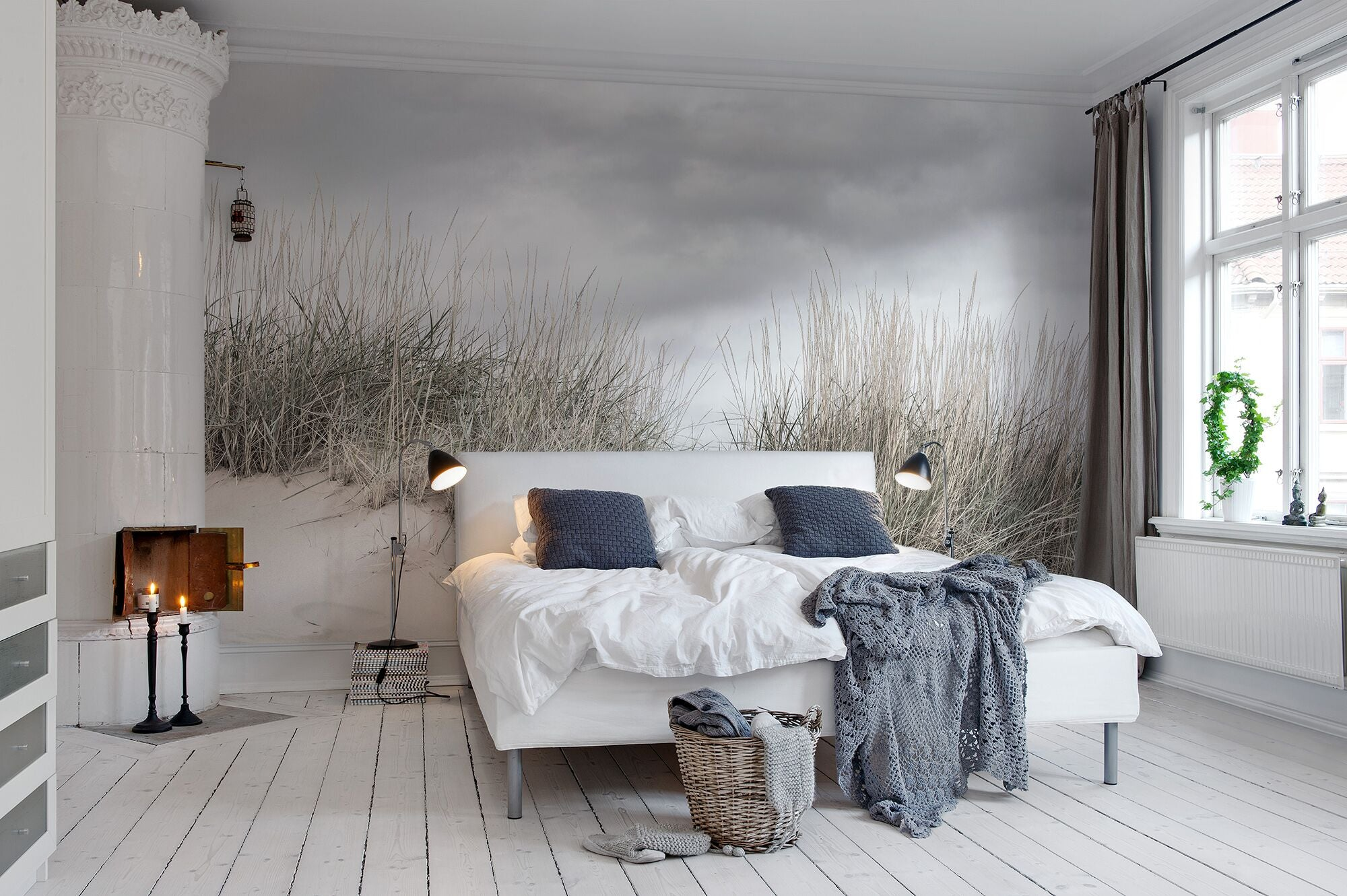 Pale Seashore Mural Wallpaper (SqM)