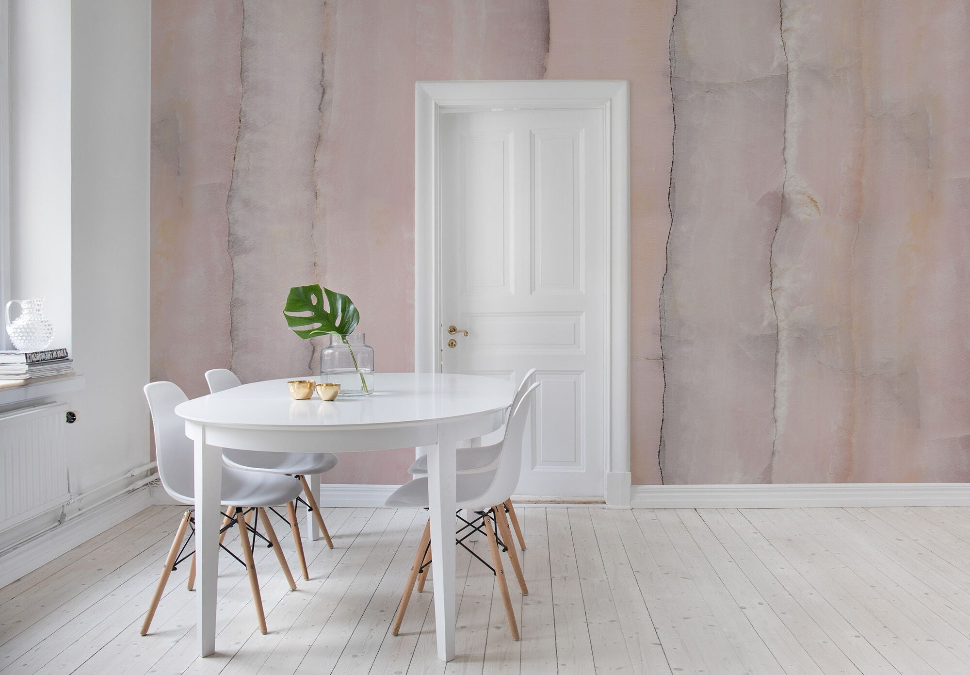 Pink Agate Slice Mural Wallpaper (SqM)