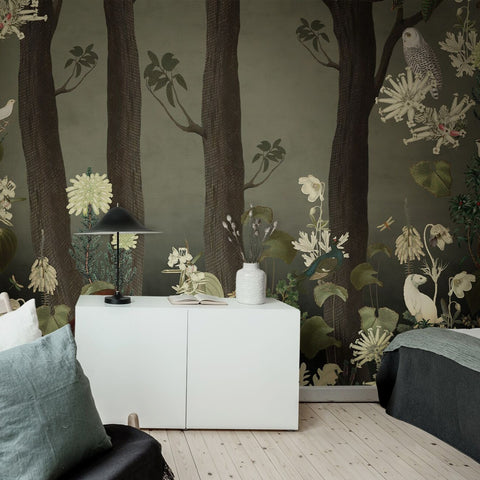 Rabbit Hole Moss Mural Wallpaper (SqM)