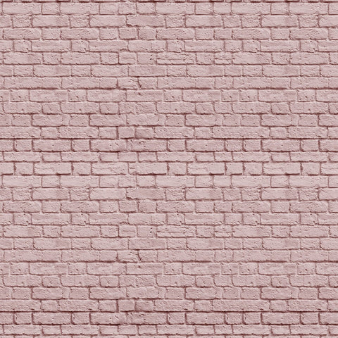 Soft Pink Bricks Mural Wallpaper (SqM)
