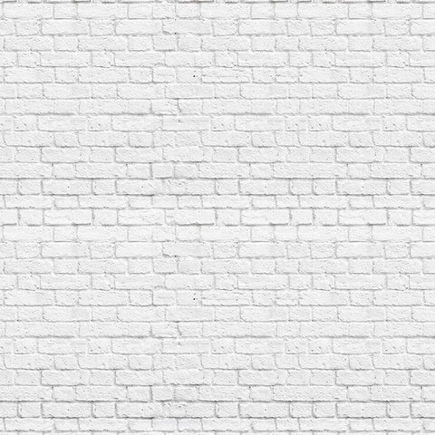 Vintage White Bricks Mural Wallpaper (SqM)
