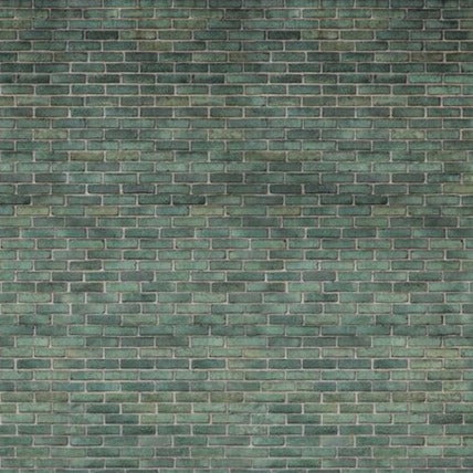 Urban Emerald Bricks Mural Wallpaper (SqM)