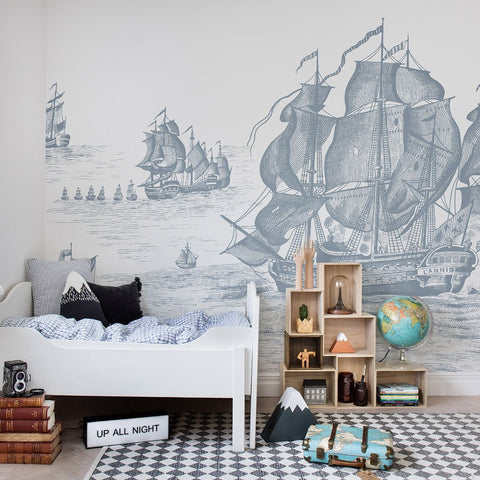 Pirates Adventure Pale Mural Wallpaper (SqM)
