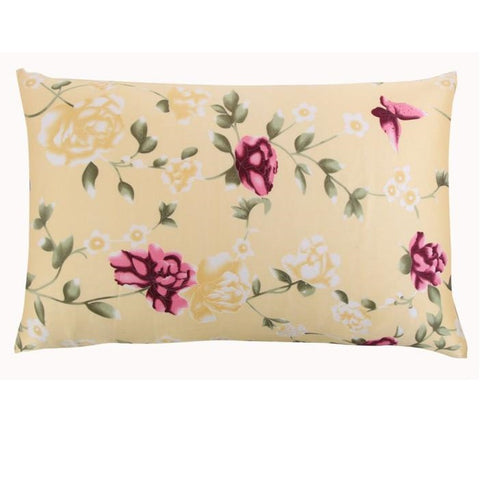 Beige Rose Mulberry Silk Pillowcase