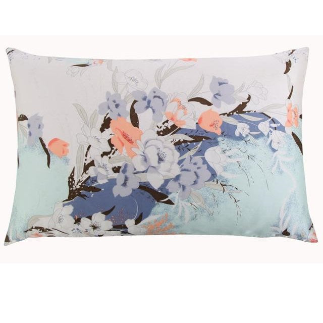 Floral Pastels Mulberry Silk Pillowcase
