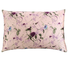 Pink Freesia Mulberry Silk Pillowcase