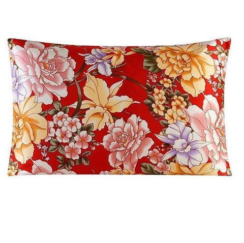 Scarlet Rose Mulberry Silk Pillowcase