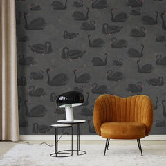 Black Swan Mural Wallpaper