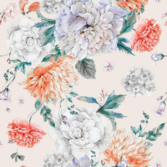 Blush Peonies Bouquet Mural Wallpaper (SqM)