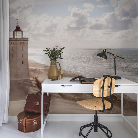 Lighthouse View Mural Wallpaper (SqM)