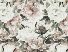 Blush Peonies of Taormina Mural Wallpaper (SqM)