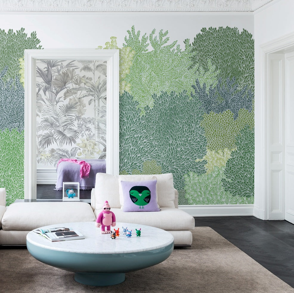 Inhale Exhale Green Forest Mural Wallpaper (SqM)