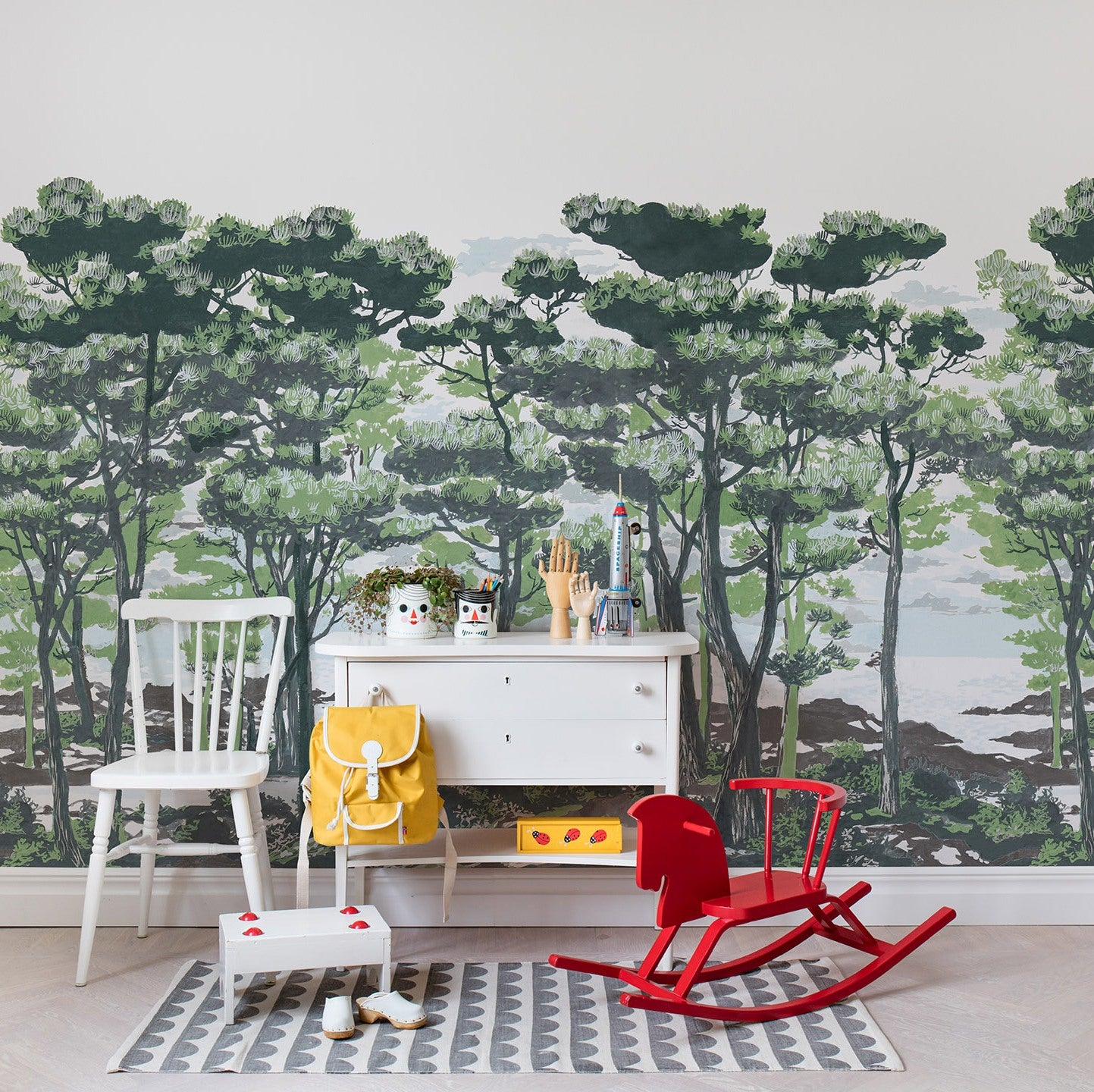 The Magical Forest in the Daylight Mural Wallpaper (SqM)