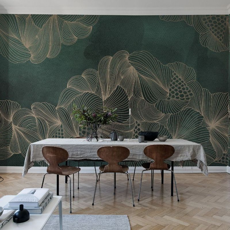 Opulence Green Jade Mural Wallpaper (SqM)