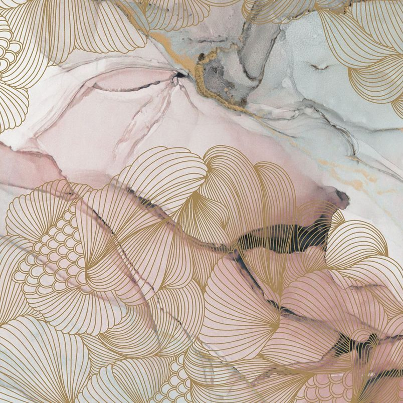 Opulence Pink Marble Mural Wallpaper (SqM)