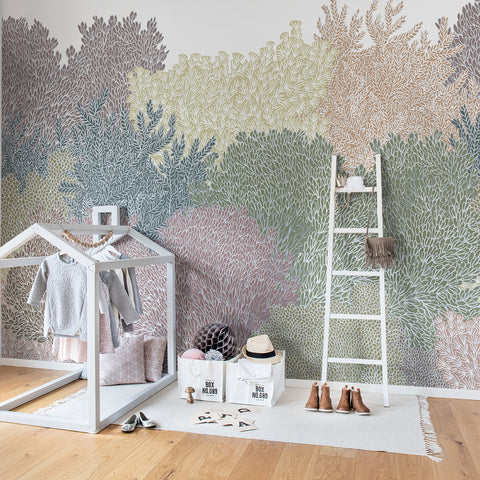 Pastel Vibes Forest Mural Wallpaper (SqM)