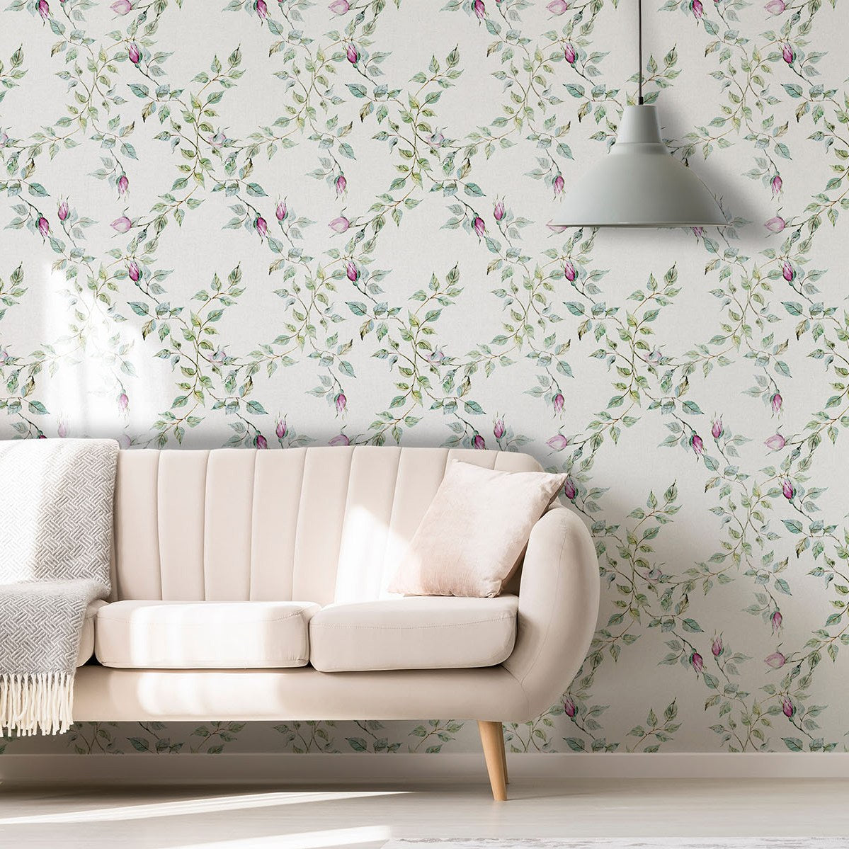 Positano Rose Blooms Wallpaper (SqM)