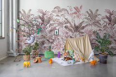 Pride Palms Plum Mural Wallpaper (SqM)