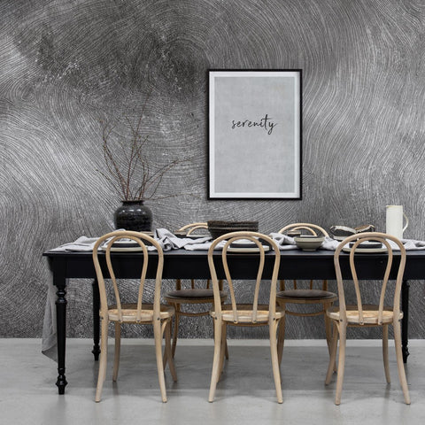 Serenity Grey Wood Mural Wallpaper (SqM)