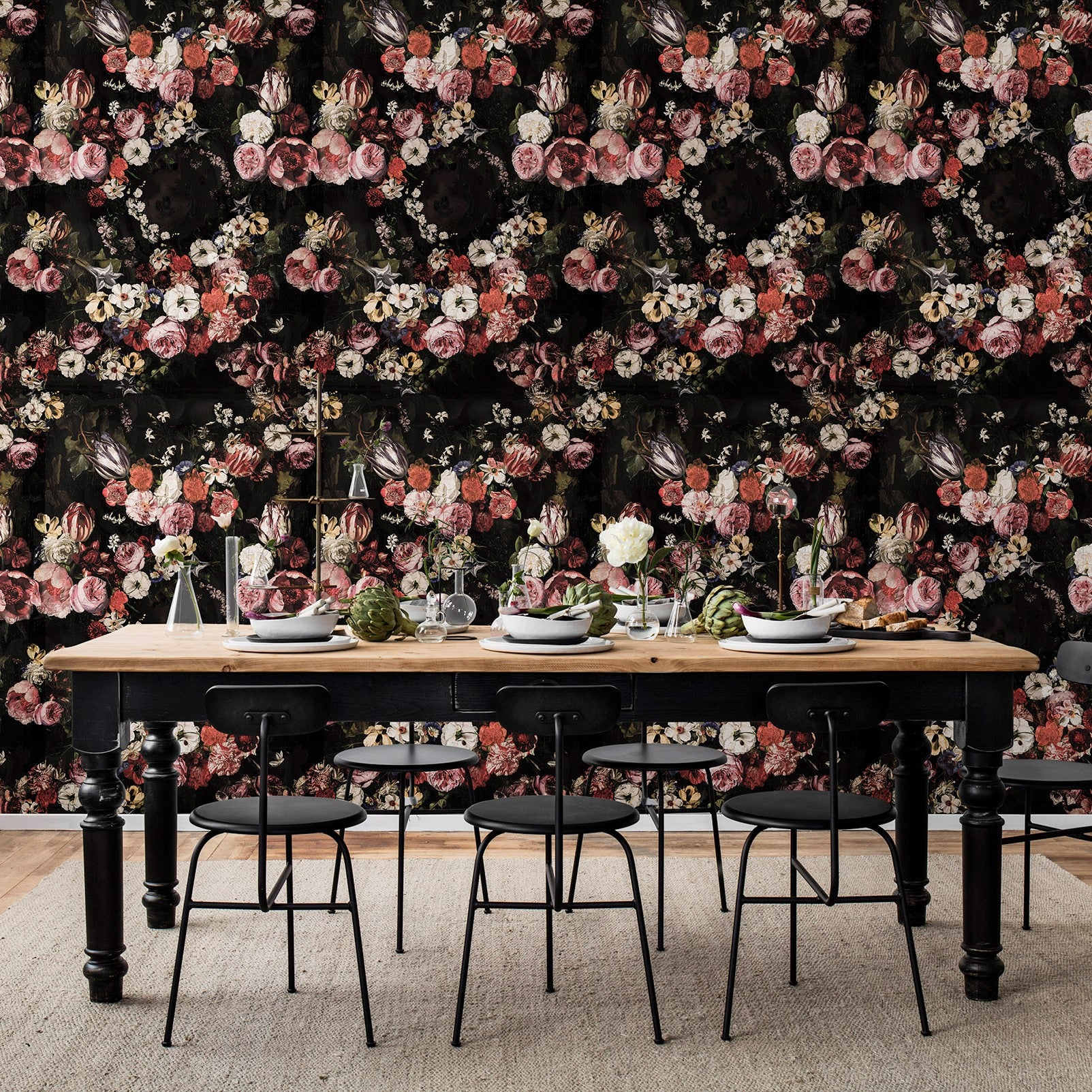 Sleeping Beauty Roses Mural Wallpaper (SqM)