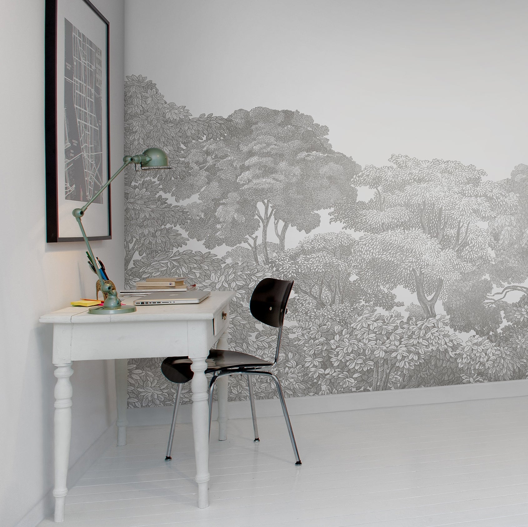 Bellewood Grey Fog Wall Mural Wallpaper (SqM)